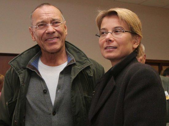 Андрей Кончаловский и Юлия Высоцкая венчались в Пскове